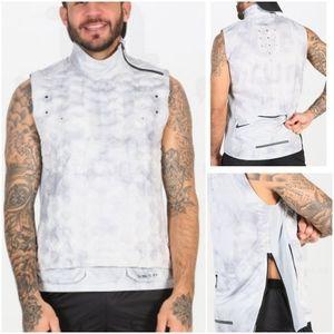 NIKE Aeroloft Tech Pack Men's Goose Down Running Vest Light Grey Size XL